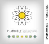 chamomile thin line art icon ... | Shutterstock .eps vector #478586203