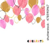watercolor pink and glittering... | Shutterstock . vector #478590967