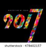 happy new year 2017 calendar...   Shutterstock .eps vector #478602157