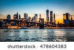 blurred manhattan skyline with... | Shutterstock . vector #478604383