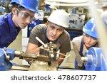 young people in metallurgy... | Shutterstock . vector #478607737