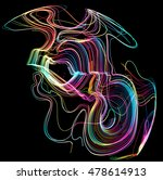 moving colorful lines of... | Shutterstock .eps vector #478614913