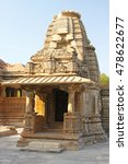 Small photo of Bas Relief carvings Sas Bahu Temple (Nagda) in Gwalior city, Rajasthan, India