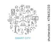 smart city vector concept....   Shutterstock .eps vector #478631233
