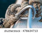 rope tied knot pole close up at ... | Shutterstock . vector #478634713