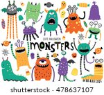 cute scary halloween monsters...