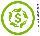 dollar care hands rounded icon. ... | Shutterstock .eps vector #478637827