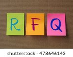 rfq  request for quotation ... | Shutterstock . vector #478646143