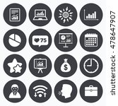 calendar  wifi and clock... | Shutterstock .eps vector #478647907