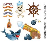 set of elements for a pirate... | Shutterstock .eps vector #478648507