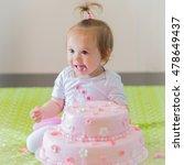 first birthday happy baby girl...   Shutterstock . vector #478649437