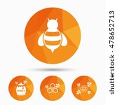 honey icon. honeycomb cells... | Shutterstock .eps vector #478652713