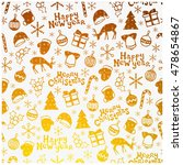 merry christmas and happy new... | Shutterstock .eps vector #478654867