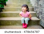 little asian girl need a pee in ... | Shutterstock . vector #478656787