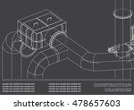 drawings of steel structures.... | Shutterstock .eps vector #478657603