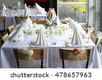 wedding table  | Shutterstock . vector #478657963