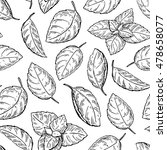 mint drawing seamless pattern.... | Shutterstock . vector #478658077