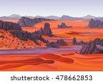 Landscape Of The Desert.