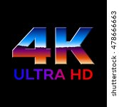 4k ultra hd format logo with... | Shutterstock .eps vector #478666663