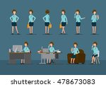 female employees | Shutterstock .eps vector #478673083