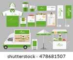 organic food  brading mock up... | Shutterstock .eps vector #478681507