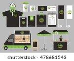 organic food  brading mock up... | Shutterstock .eps vector #478681543