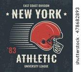 new york vintage t shirt... | Shutterstock .eps vector #478682893
