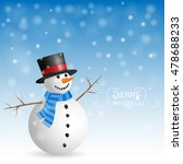 christmas greeting card with... | Shutterstock .eps vector #478688233