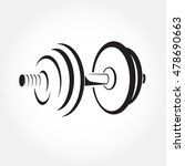 dumbbell sketch vector. fitness ... | Shutterstock .eps vector #478690663
