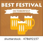 oktoberfest background with... | Shutterstock .eps vector #478692157