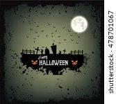 happy halloween party. poster | Shutterstock .eps vector #478701067