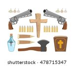 weapons vampire hunter. tools... | Shutterstock .eps vector #478715347