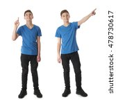 cute teenager boy in blue t... | Shutterstock . vector #478730617