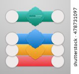 set of 3d infographic banners... | Shutterstock .eps vector #478731097