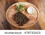 skirt steak with salad and... | Shutterstock . vector #478732423