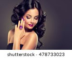 model curly hair and jewelry  ... | Shutterstock . vector #478733023