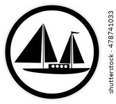 sailing ship button on white... | Shutterstock .eps vector #478741033