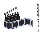 film strip clapboard cinema... | Shutterstock .eps vector #478743037