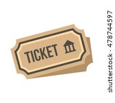 museum ticket icon in flat... | Shutterstock .eps vector #478744597