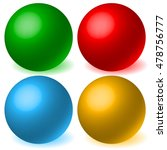 set of 4 spheres with glowing... | Shutterstock .eps vector #478756777