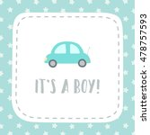 It's A Boy. Vector Hand Drawn...