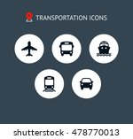 transport icons. airplane ... | Shutterstock .eps vector #478770013