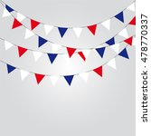 garlands of red white blue flags | Shutterstock .eps vector #478770337