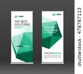 roll up banner design layout.... | Shutterstock .eps vector #478787113