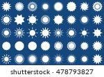 Sun Vector Burst Icon Set Sol...