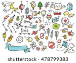 set of cute hand drawn doodle | Shutterstock . vector #478799383