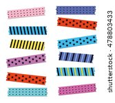 vector colored strips of...   Shutterstock .eps vector #478803433
