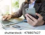 business woman hand holding... | Shutterstock . vector #478807627
