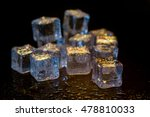 ice cubes colorful on a black... | Shutterstock . vector #478810033