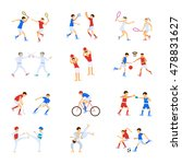 athletes kids set  sport... | Shutterstock .eps vector #478831627